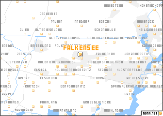 map of Falkensee
