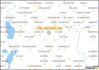 map of Falkenwalde