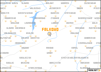 map of Fałkowo