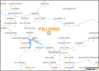 map of Fallavaux