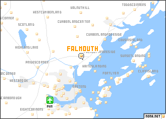 Falmouth United States USA Map Nonanet - Maine in usa map