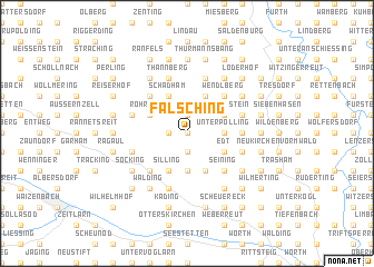 map of Fälsching