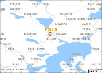 Falun map ile ilgili görsel sonucu Falun map