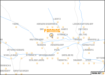map of Fanning