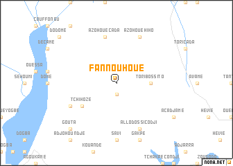 map of Fannouhoué