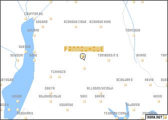 map of Fannouhoué