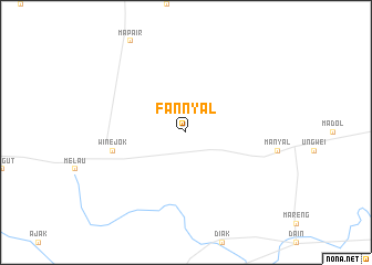 map of Fan Nyal