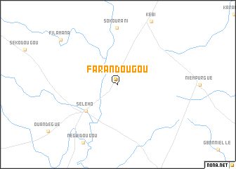 map of Farandougou