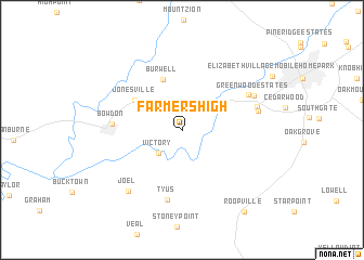 map of Farmers High