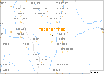 map of Faron Peteka