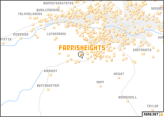 map of Farris Heights
