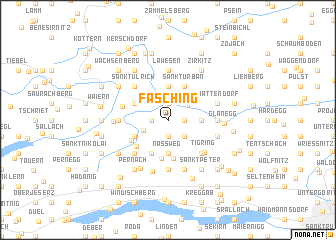 map of Fasching