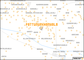 map of Fattu Nūr Khānwāla