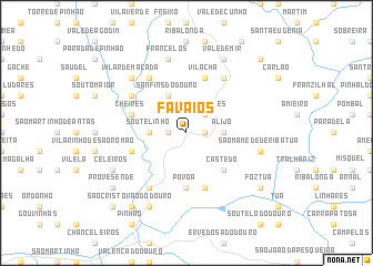 favaios mapa Favaios (Portugal) map   nona.net favaios mapa