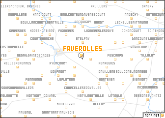 map of Faverolles
