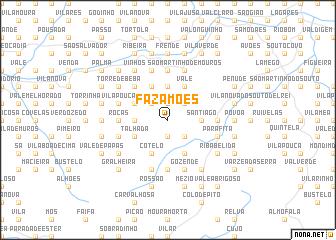 map of Fazamões