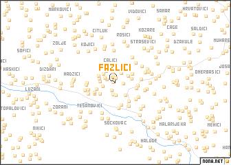 map of Fazlići