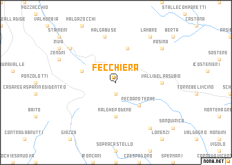 map of Fecchiera