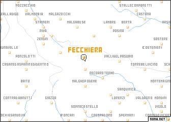 map of Fecchiera
