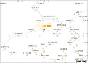 map of Fednevo