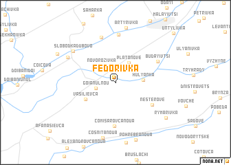 map of Fedorivka