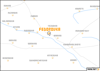 map of Fëdorovka