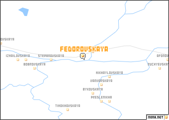 map of Fëdorovskaya
