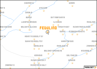 map of Fedulino