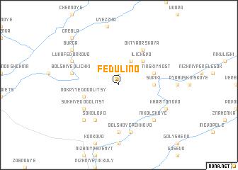 map of Fedulino