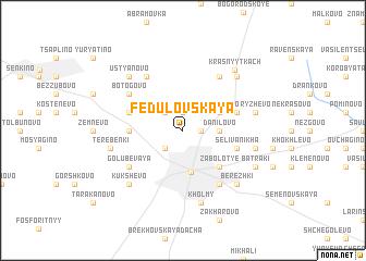 map of Fedulovskaya