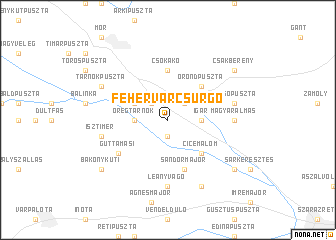 map of Fehérvárcsurgó