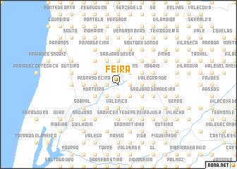 map of Feira