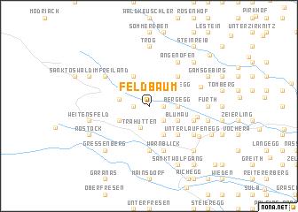 map of Feldbaum