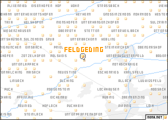 map of Feldgeding