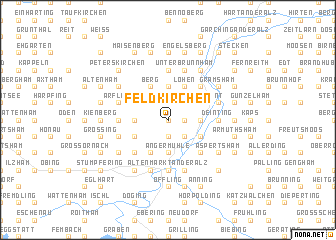 map of Feldkirchen