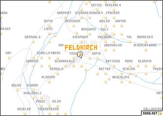 map of Feldkirch