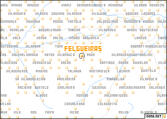 map of Felgueiras