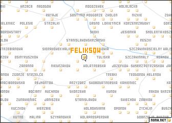 map of Feliksów