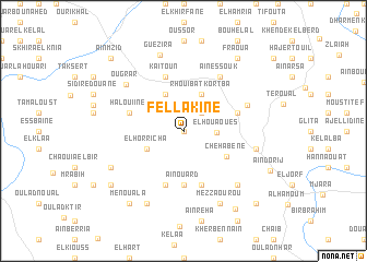 map of Fellakine