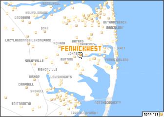 map of Fenwick West