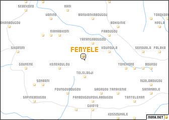 map of Fényélé