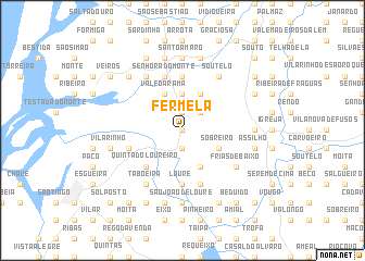 map of Fermelã