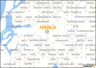 map of Fermelã