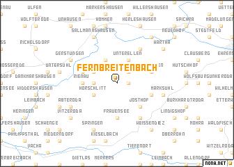 map of Fernbreitenbach