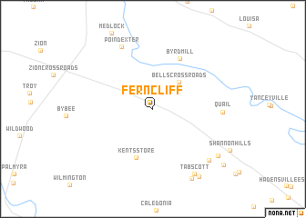 map of Ferncliff