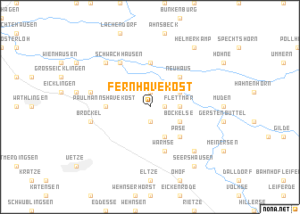 map of Fernhavekost