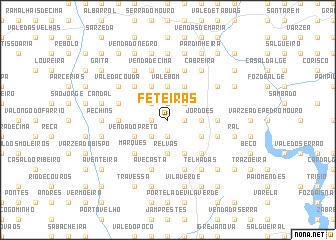 map of Feteiras
