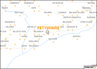 map of Fetyukhino
