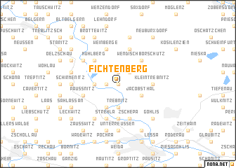 map of Fichtenberg