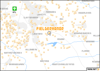 map of Fielder Manor
